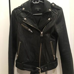 Mackage for Aritzia pebbled leather Moto Jacket